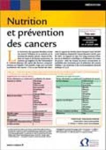Fiche repère INCa nutrition et prévention des cancers