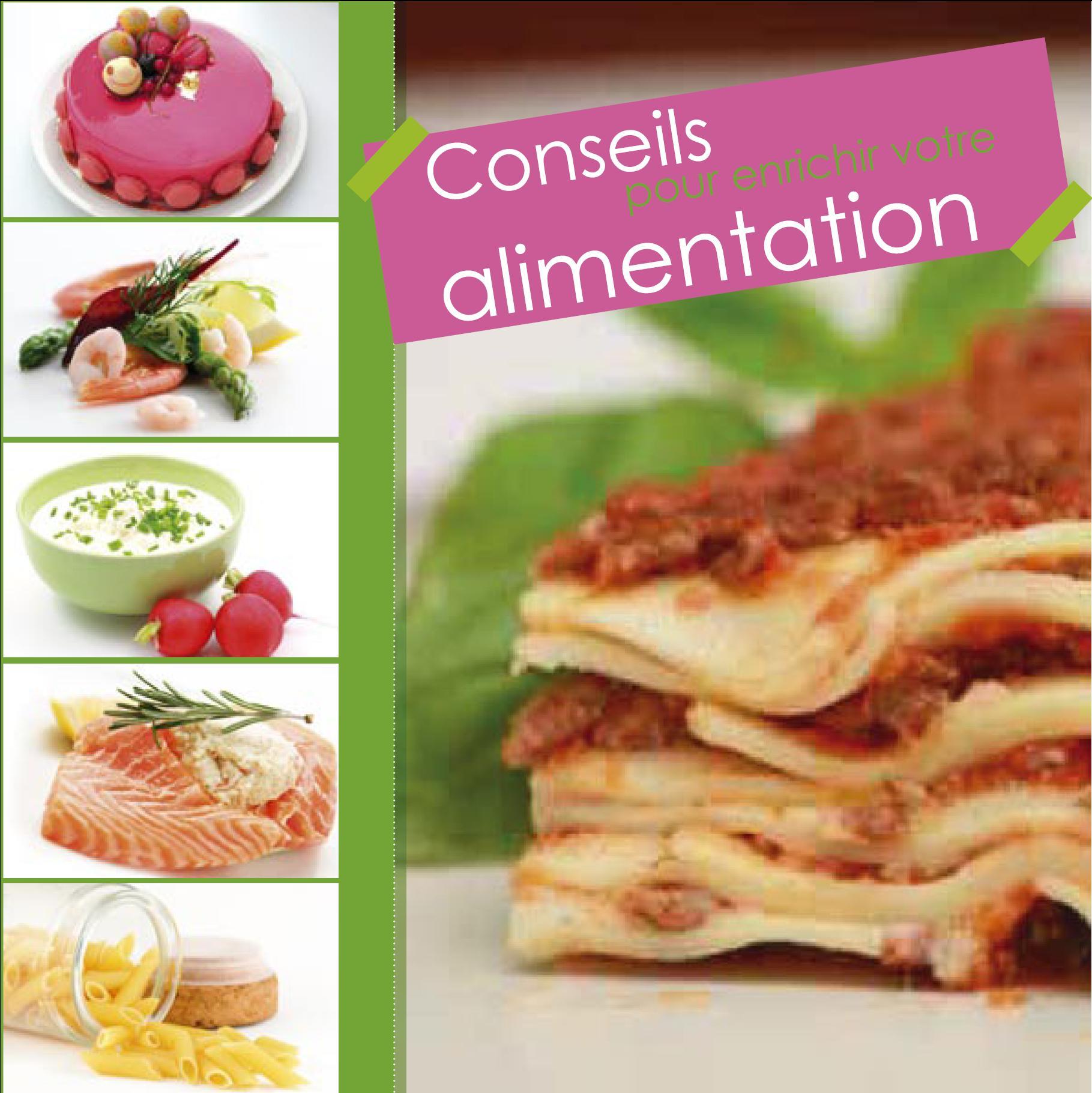 Livret ''Conseils pour enrichir son alimentation'' CHU Nice 2008