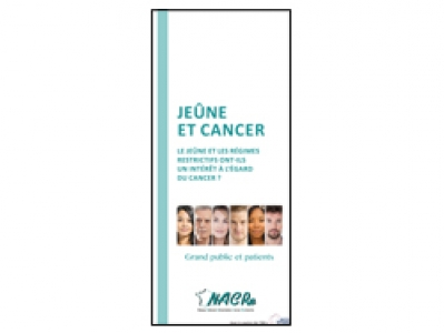 Dépliant NACRe grand public et patients « Jeûne et cancer » 2018