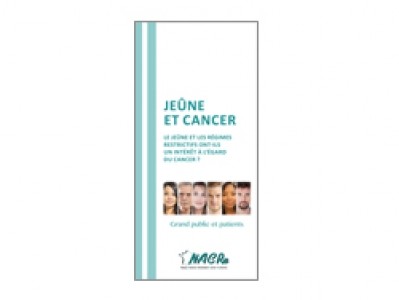 Dépliant NACRe grand public et patients « Jeûne et cancer » 2018