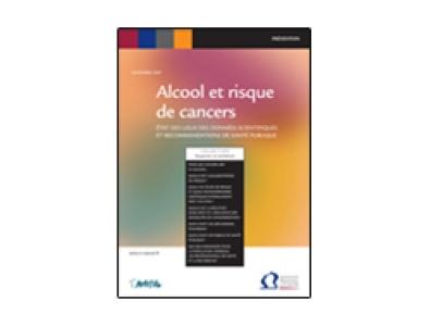 Rapport alcool et risques de cancers, INCa-NACRe