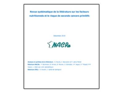 Revue systématique de la littérature sur les facteurs nutritionnels et le risque de seconds cancers primitifs