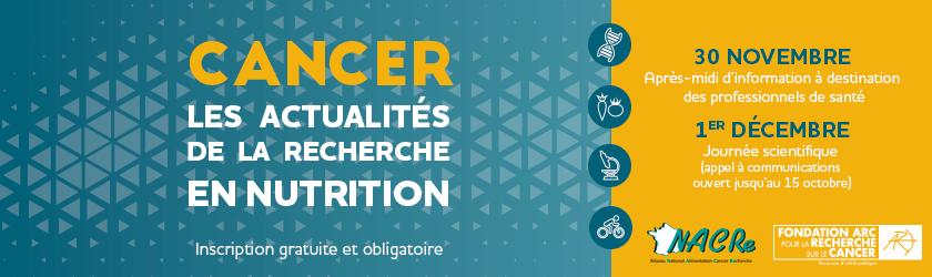 Bandeau Colloque nutrition NACRe ARC