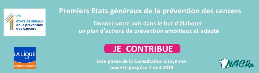 Bandeau Concertation Etats généraux de la prévention des cancers