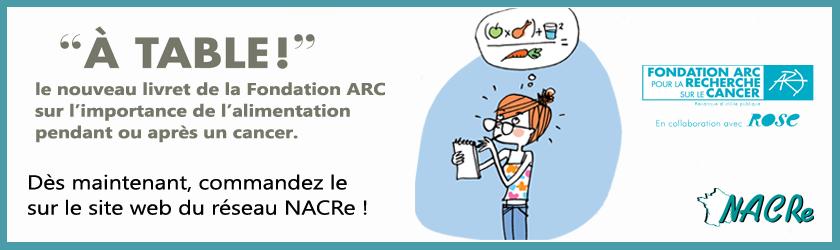 Bandeau livret à table Fondation-ARC 2017