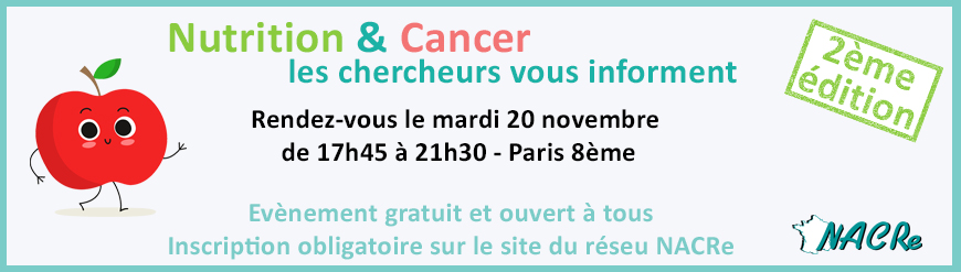 Evenement grand public NACRe - 20 novembre 2018