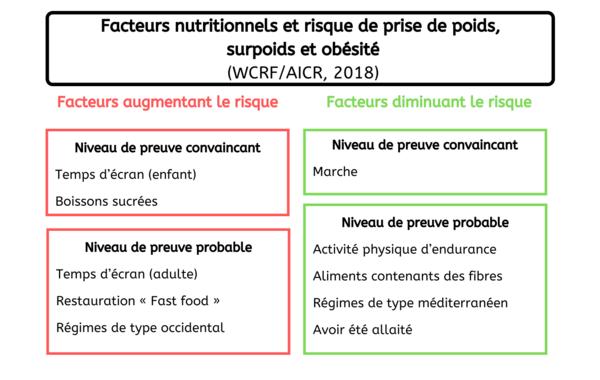 Facteurs - Surcharge pondérale France 2020