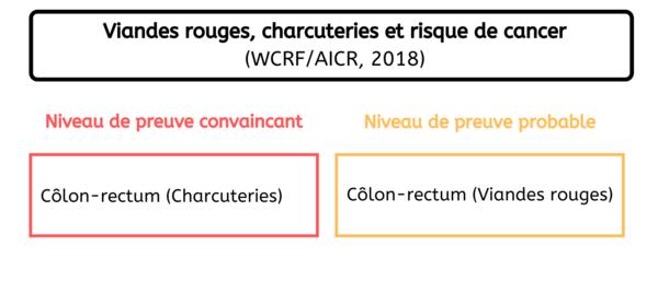 Localisation de cancers - Consommation viandes rouges et charcuteries France 2020
