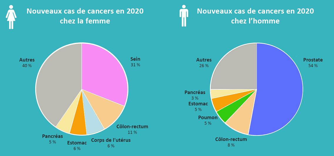 Graphique Cancers en Guadeloupe