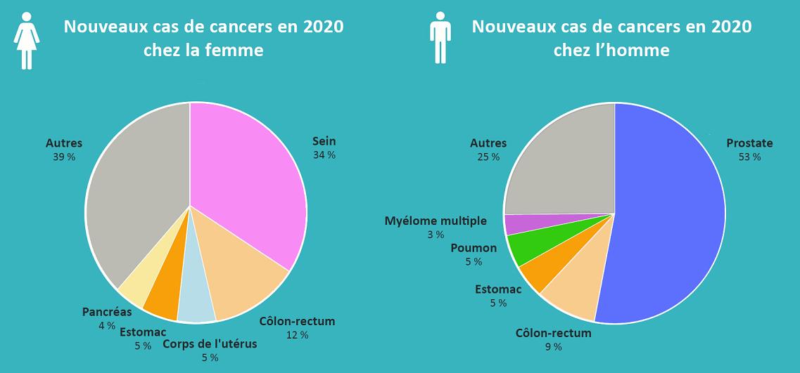 Graphique Cancers en Martinique