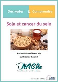 Couverture dépliant Soja et cancer du sein - Décrypter & Comprendre 2019