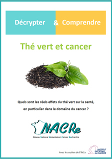 Couverture dépliant Thé vert et cancer - Décrypter & Comprendre 2019