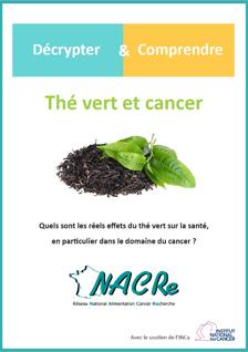Depliant Thé vert et cancer NACRe 2019