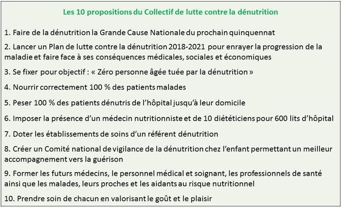 Lutte contre la dénutrition - 10 propositions corps du texte