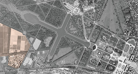 Aerial photo Versailles