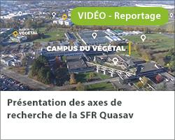 Présentation des axes de recherche de la SFR Quasav