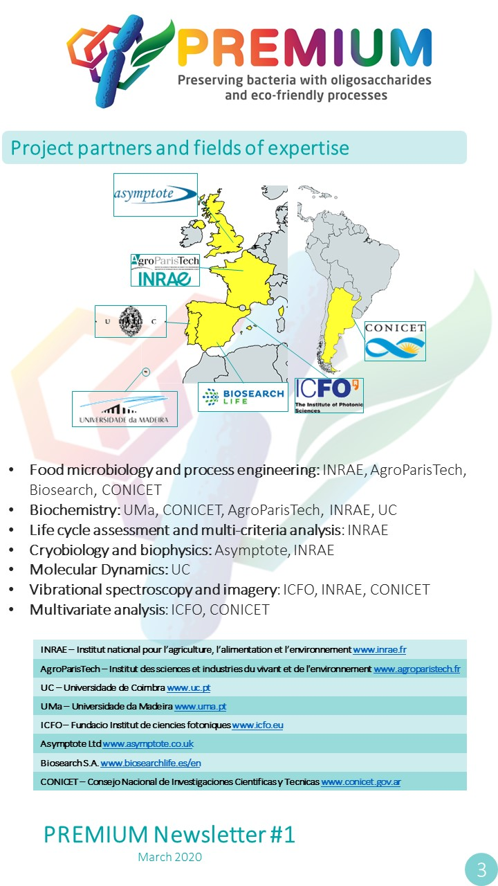 Page 3 - Project partners and fields of expertise