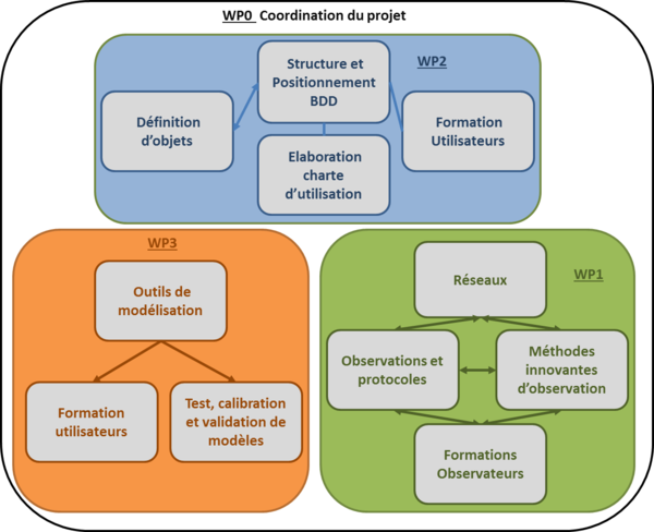 Schéma de la structure du projet PERPHECLIM