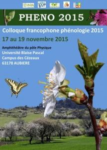 Colloque Francophone de Phénologie 2015 - Clermont Ferrand