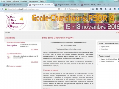 Ecole-Chercheur PSDR4