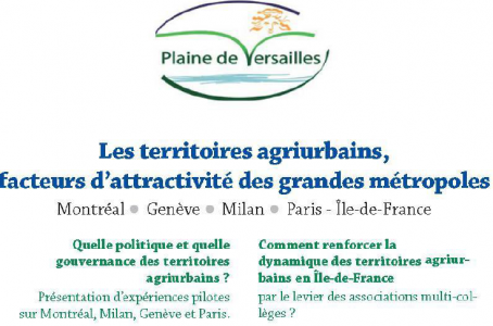 Séminaire sur les territoires agri urbains le 7 mars 2018