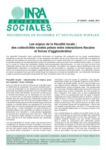 Couverture  INRA Sciences sociales n°5/2010 avril 2011