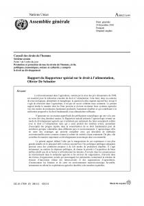 Couverture rapport UN Agroécologie