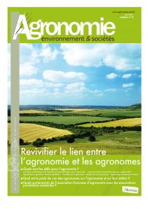 Couverture du numéro 0 de la revue Agronomie
