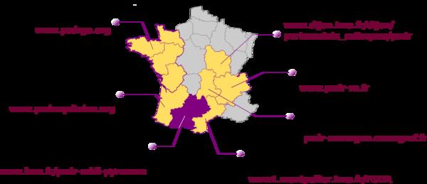 Carte des régions PSDR3