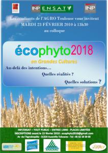 Affiche Colloque Ecophyto - 2010