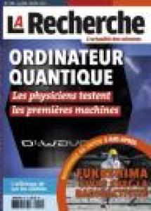 Couverture magazine La Recherche - mars 2014