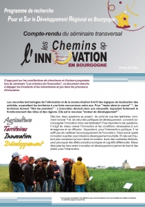 Couverture Document de synthèse-analyse du séminaire