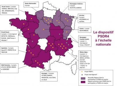 Sites des régions PSDR