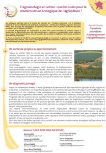 Couverture Focus PSDR agroécologie