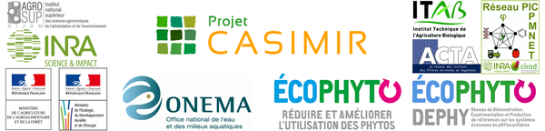 Logos des partenaires et financeurs du projet CASIMIR