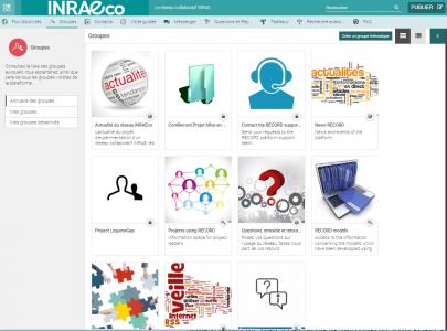 Copie d'écran interface INRAEco-RECORD
