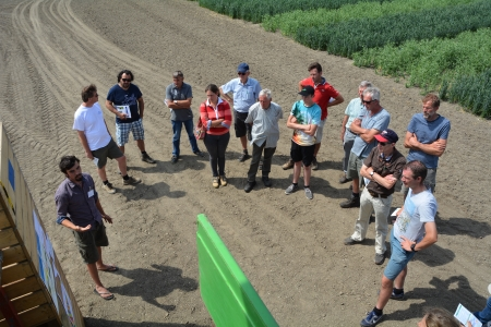 Farmers visit at Organic Field day