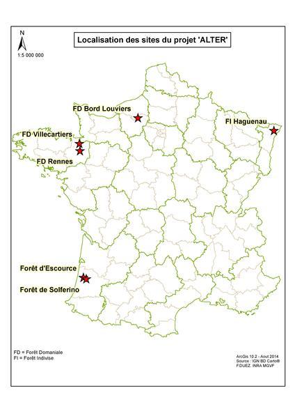 Répartition sites ALTER en France