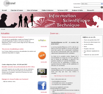 Page d'accueil Intranet IST