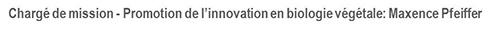 Chargé de Mission Innovation