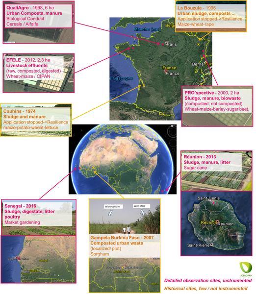 Carte 8 sites SOERE EN