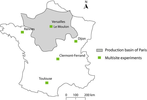 Map of the experiments location