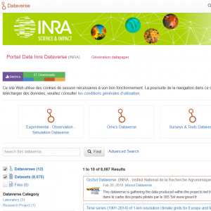 Portail Data Inra : nouvelle version