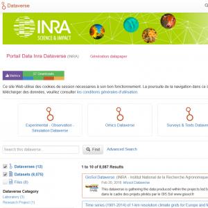 Data Inra, ouverture du portail des données de l'Inra