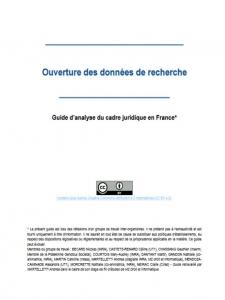 Guide d'analyse du cadre juridique en France